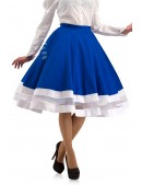 Винтажная синяя юбка X7161 (107161) - материал, 6