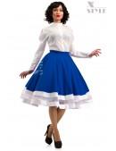 Винтажная синяя юбка X7161 (107161) - foto