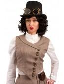 Костюм Стимпанк (жилетка, юбка, шляпа, очки, чехол с часами) (118038) - цена, 4