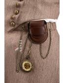 Костюм Стимпанк (жилетка, юбка, шляпа, очки, чехол с часами) (118038) - материал, 6