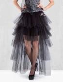 Многослойная пышная асимметричная юбка (107049) - цена, 4