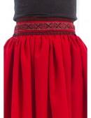 Длинная юбка с вышивкой и кружевом (107118) - цена, 4