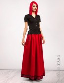 Длинная юбка с вышивкой и кружевом (107118) - 4, 10