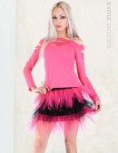 Двухцветная юбка-пачка (107047) - материал, 6
