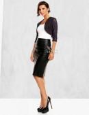 Кожаная юбка-карандаш 107111 (107111) - оригинальная одежда, 2