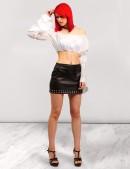 Кожаная юбка с клепками X-Style (107117) - оригинальная одежда, 2