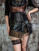 Мини-юбка с навесным карманом (107097) - foto