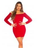 Красное короткое платье с воланами сверху KC5495 (105495) - 4, 10