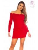 Красное короткое платье с воланами сверху KC5495 (105495) - foto