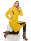 Платье-свитер с широким воротником (горчица) (105364) - 3, 8