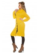 Платье-свитер с широким воротником (горчица) (105364) - материал, 6