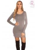 Вязаное платье с клепками на декольте KC5367 (105367) - foto