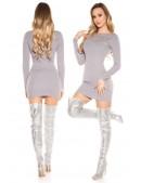 Короткое облегающее платье с декором спереди MF5377 (105377) - 4, 10