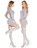 Короткое облегающее платье с декором спереди MF5377 (105377) - оригинальная одежда, 2