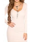 Вязаное платье со съемным ожерельем KC5430 (105430) - 4, 10