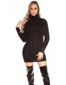 Черный свитер-платье KC5434 (105434) - оригинальная одежда, 2