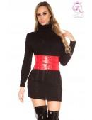 Черный свитер-платье KC5434 (105434) - foto