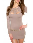 Вязаное платье с красивым декольте KouCla (165003) - 4, 10