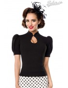 Женская черная блуза B187