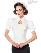 Приталенная блузка в стиле Ретро Belsira