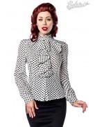 Ретро-блузка в горошек