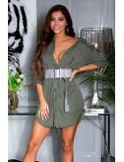 Длинная рубашка-платье из лиоцелла (хаки)