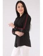 Рубашка женская с лампасами по бокам BD3024