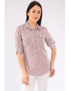 Женская рубашка в полоску BD3027