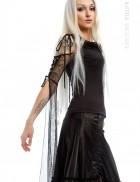 Черная блуза с длинными рукавами XSTYLE