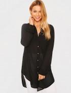 Длинная женская рубашка из шифона XC3021