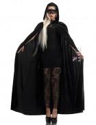 Костюм на Хэллоуин: платье, маска и длинный плащ