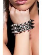 Серебристый браслет с шипами X137