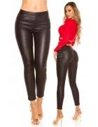 Кожаные джинсы на флисе