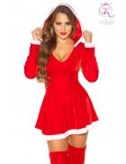 Красное новогоднее платье KC7174