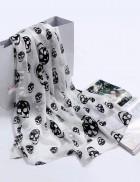 Шифоновый шарф с черепами