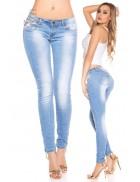 Женские джинсы, шипованные сверху