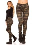 Камуфляжные женские джинсы MF8087