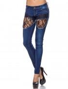 Узкие джинсы с кружевом Chic Bonbon