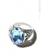 Кольцо Сказка с голубым Swarovski
