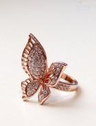 Позолоченное кольцо с камнями Aneis