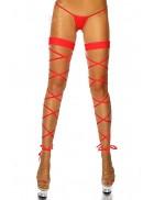 Красные чулки-шнурок