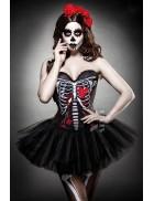 Корсет на Хэллоуин Skull Senorita