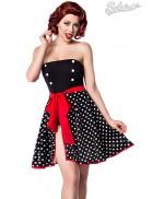 Пляжная юбка в горошек B0117