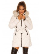 Зимняя куртка с капюшоном и мехом MF138