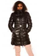 Зимняя стеганая куртка под кожу M139