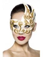 Венецианская маска с камнями и вышивкой A1079