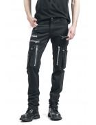 Черные мужские брюки с накладными карманами XTC7004