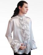 Белая рубашка с жабо