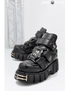 Черные кожаные ботинки ITALI 285-S1
