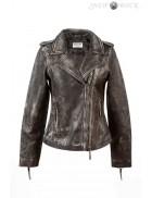 Женская куртка из натуральной винтажной кожи J015S1